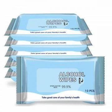 20 Pieces of Aloe Scented Skin-Friendly Non-Woven Cotton Sheet Custom Packaging Label PP Self-Adhesive Label Wet Wipes