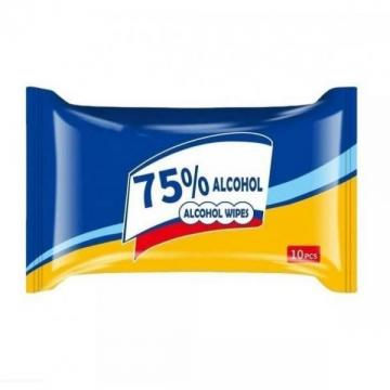 Hotsale Nonwovens fabric 75% alcoholic wet wipes for hotel or household
