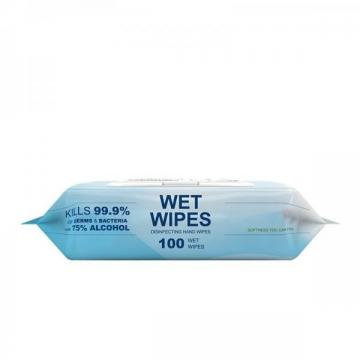 Alcohol Free Sanitizing Wet Wipes Spunlance Antibacterial Cleaning Wipe for Adult