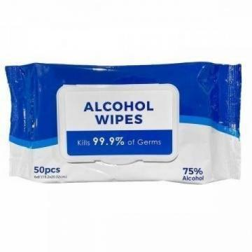 Factory Made Private Label 70% Isopropyl Individually Packed Wet Wipes Alcohol
