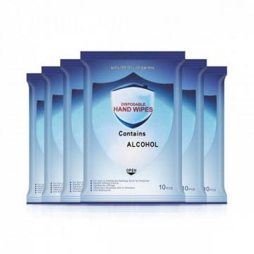 Disposable 70% Isopropyl Alcohol Wipes with Custom Packaging
